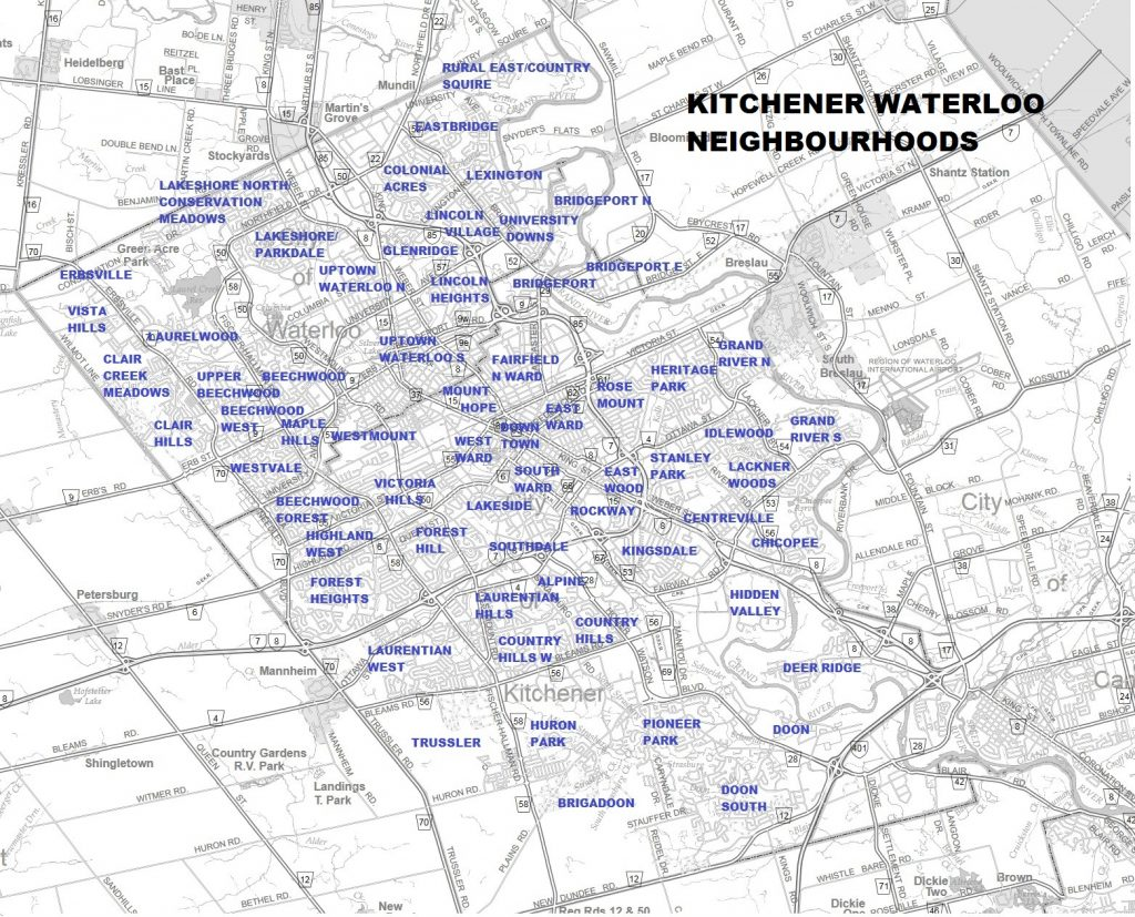 Kitchener Waterloo Neighbourhoods