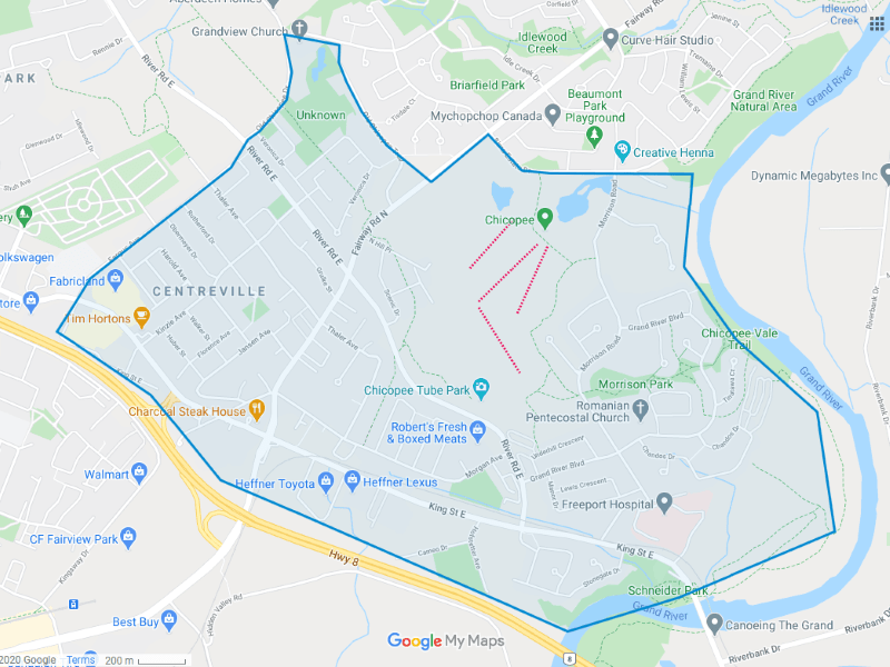 Centreville Chicopee Map