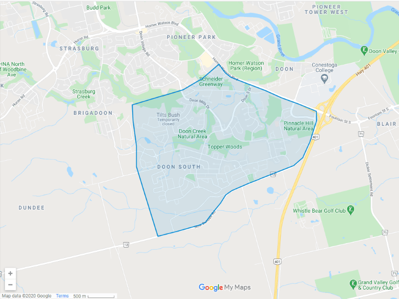 Doon South Map