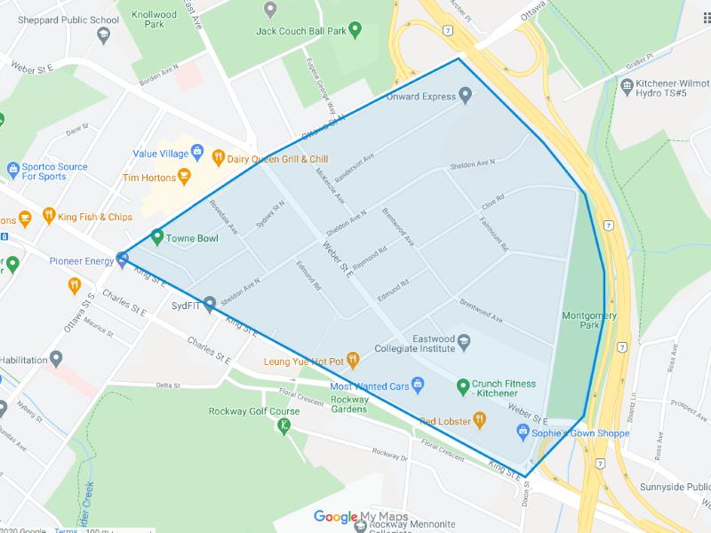 Eastwood Map