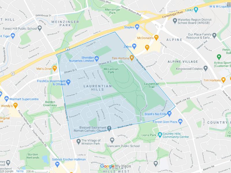 Laurentian Hills Map